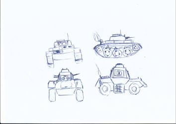 Tank and Armoured Vehicle Prototype by Backup993