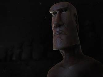 Moai Alien 1 by Morit