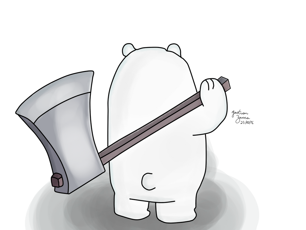 We Bare Bears Baby Ice Bear With His Axe By Jacksonzaccabr On