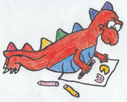 18/768 - Mini Stegosaurus (Color a Dinosaur) by DiskJoshy