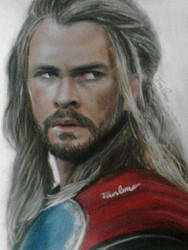 Thor the dark world pastel painting by Fawn Corner by FawnCorner