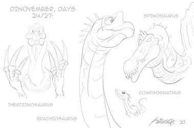 Dinovember, days 24/27 by Hyper-Venom