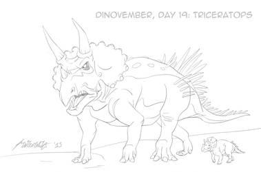 Dinovember, day 29: Triceratops by Hyper-Venom