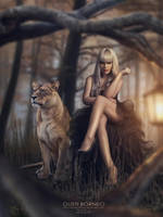 With Lion by apanyadong