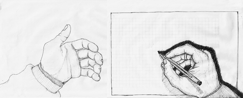 Drawing My Hands by theDart76