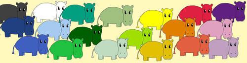 Herd o' Hippo by Stphne