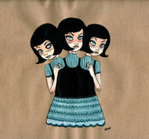 Triamese Twins by jokneeappleseed