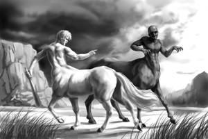 Quarrel between centaurs by Mumium
