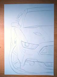 Stang Sketch by DEpEchE-Ninara