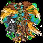 .CoMM:. Sparrowmon's Evo Line by JaymiSaeki