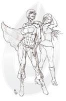Powergirl Supergirl by DarthZara