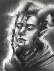 Horkas Adohorn(Portrait sketch) by 12345t67