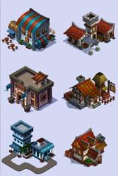 Iso Buildings by ochunk