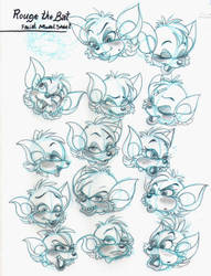 Facial Model - Rouge the Bat by SmithyGCN