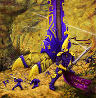 Eldar Advance by JUSTOOGOOD