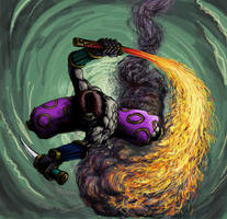 Cyber-Ninja by JUSTOOGOOD