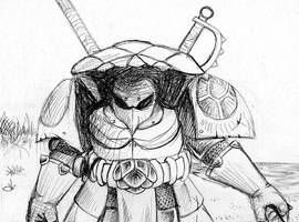 Turtle Warrior concept 2 by JUSTOOGOOD