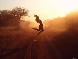 In the Dust at Dawn I by 4Gemsbok