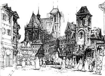 Medieval town by gaciu000