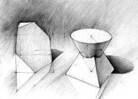 Geometry - cone, pyramid and cube by gaciu000