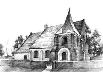 Romanesque church in Poznan by gaciu000
