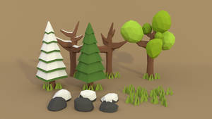Low Poly Forest by a-l-o-c-i-n