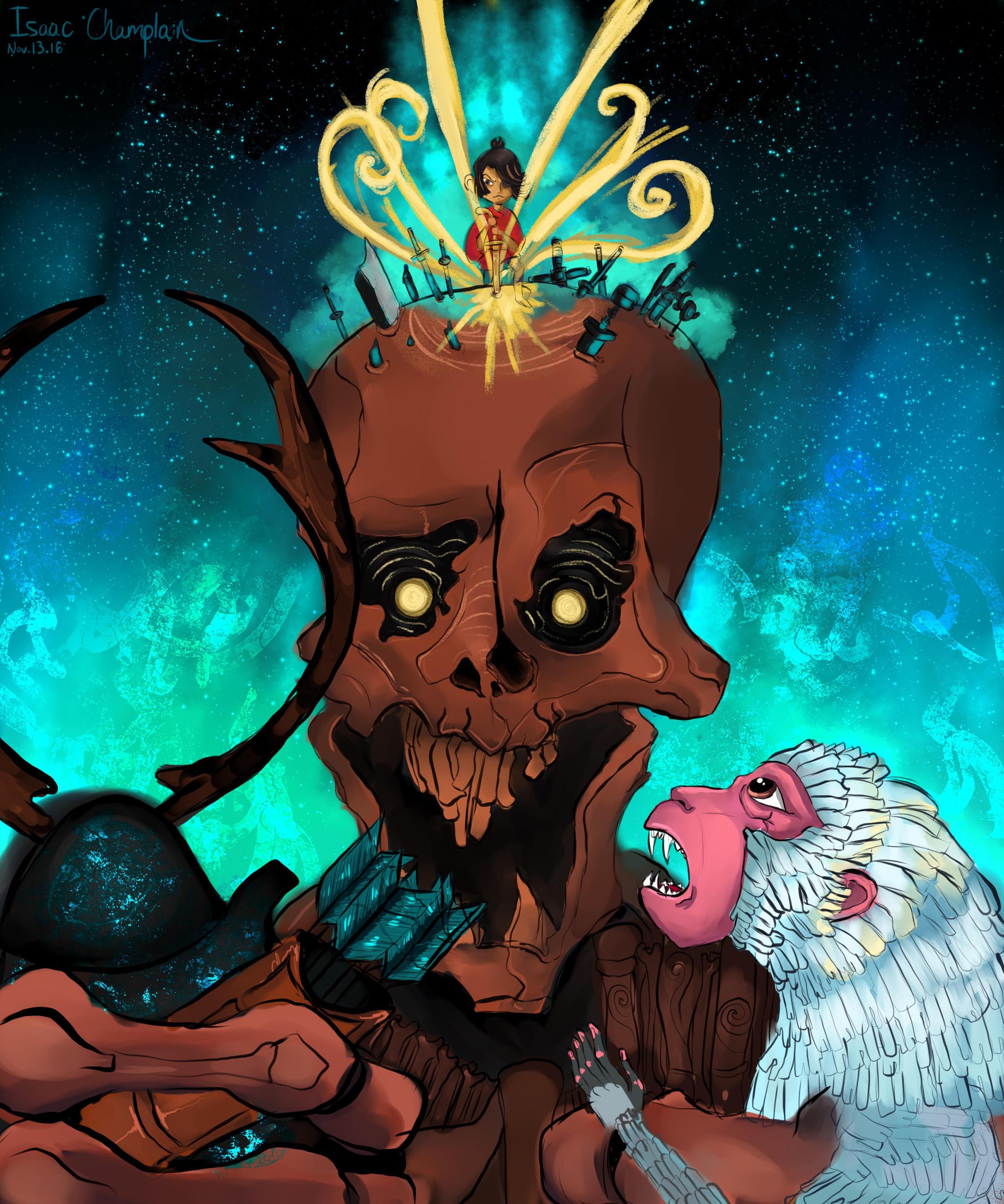 Kubo Vs Skeleton by IsaacChamplain