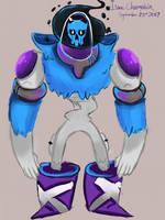 Day 23: BlueSkull by IsaacChamplain