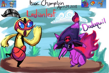 Pokemon Fusions! Ledianleaf and Dodoquil by IsaacChamplain