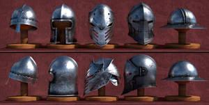 Medieval - Fantasy Helmets by Nikola3D