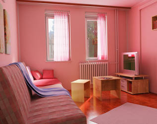 The study in pink by Nikola3D