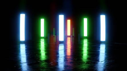 Glowing sticks by Nikola3D