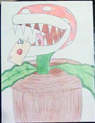 Piranha Plant Drawing by Ultrimordus