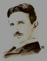 Nikola Tesla by Skokut