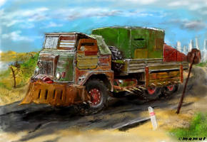 post apocalyptic truck by mamut077