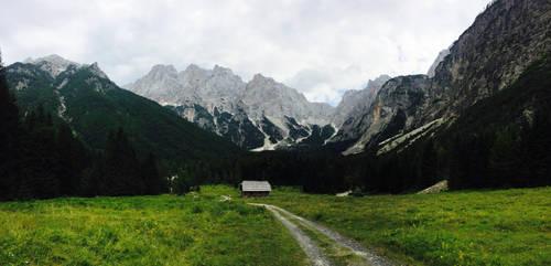 Mountain Hut by LeonTyberMatthews