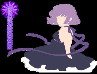 Purple anime girl retro render by xshawolviVIPx