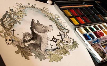 Graveyard book illustration by HighSoulInHumanFlesh