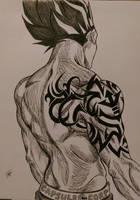 Vegeta with tattoo by Grace-fulArt