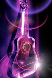 Ultraviolet Acoustic Guitar by bullispace