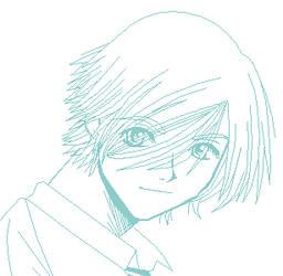 Azusa Odagiri Oekaki Lineart by Maryina-Maxwell