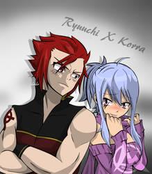 FTOC pairings Ryuuchi and Korra by Matt33oc