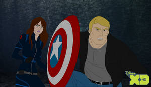 Lucy Smith and Steve Rogers vs. Zemo by ElisKittengarden
