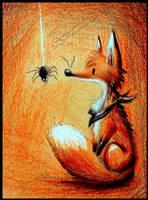 Tiny Spider by karpfinchen