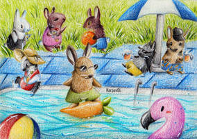 Pool Party by karpfinchen