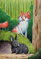 At the Rabbit Hole by karpfinchen