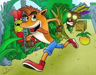 Crash Bandicoot - Fan Art by theofficialRobertMan