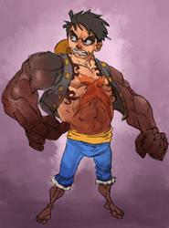 luffy gear 4 by salahh