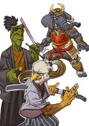 samourai animals by salahh