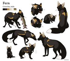 Reference Sheet - Fern by BlueHunter